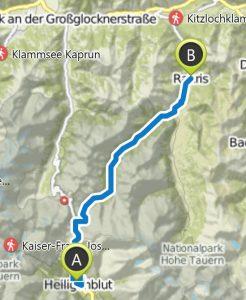 Weg über die Alpen, Heiligenblut nach Rauris